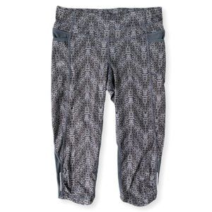 Athleta Techno Be Free Knicker Crop Legging Grey